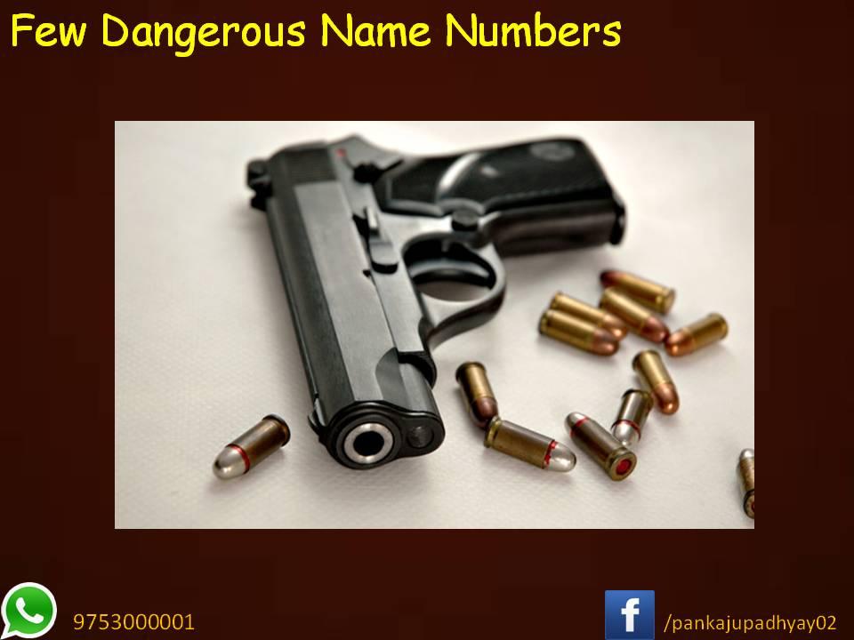 प्रमुख खतरनाक नामांक (Name Number)